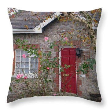 Knocklofty Cottage Throw Pillow by Suzanne Oesterling