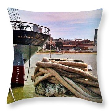 Knotted! The Size Of The Knot Required Throw Pillow