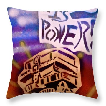 Knowledge Is Power 1 Throw Pillow by Tony B Conscious