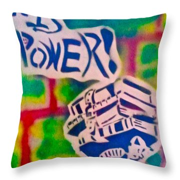 Knowledge Is Power 2 Throw Pillow by Tony B Conscious