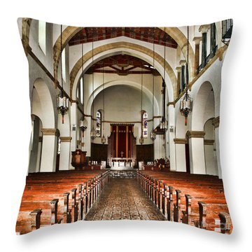 Knowles Memorial Chapel Rollins College 2 By Diana Sainz Throw Pillow