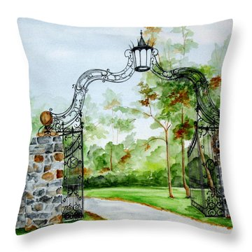 Knox Estate Throw Pillow by Ellen Canfield