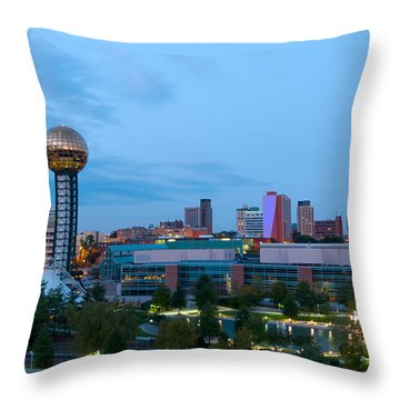Knoxville At Dusk Throw Pillow