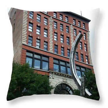 Knoxville Tn Downtown Throw Pillow by Jake Hartz