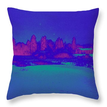 Knuutila Infrared Throw Pillow by Jouko Lehto