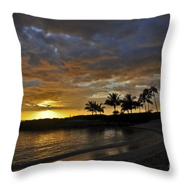 Golden Paradise Throw Pillow by Gina Savage