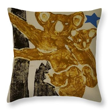 Koala And Me Throw Pillow