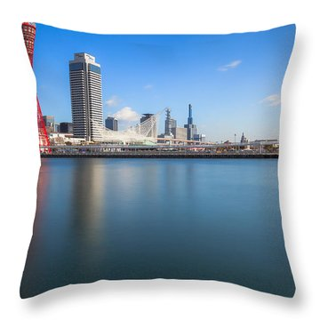 Kobe Port Island Tower Throw Pillow