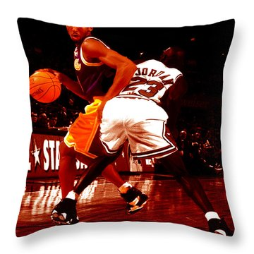 Kobe Spin Move Throw Pillow by Brian Reaves