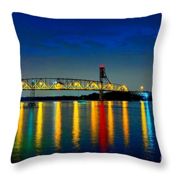 Kodachrome Bridge Throw Pillow by Olivier Le Queinec