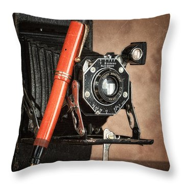Kodak And Parker Still Life Throw Pillow