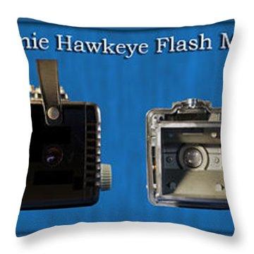 Kodak Brownie Hawkeye Camera Throw Pillow by Thomas Woolworth