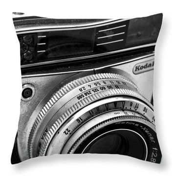 Kodak Retina Camera Throw Pillow by John Rizzuto