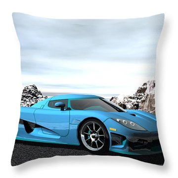 Koenigsegg Ccx Throw Pillow by John Pangia