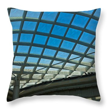 Kogod Courtyard Ceiling #3 Throw Pillow by Stuart Litoff