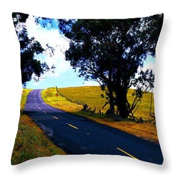 Kohala Mountain Road  Big Island Hawaii  Throw Pillow