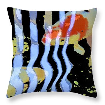 Koi 20 Throw Pillow