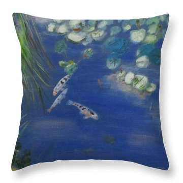 Koi At Red Butte Gardens Throw Pillow
