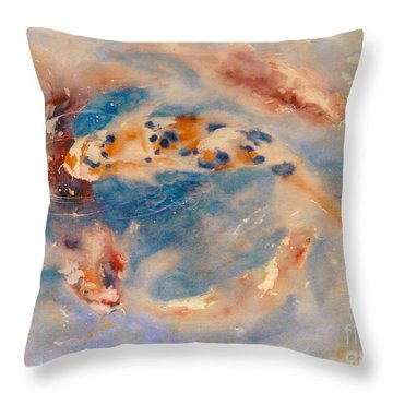 Koi Circle Throw Pillow