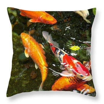 Koi Fish Japan Throw Pillow