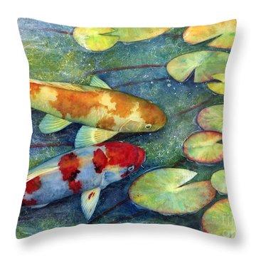 Koi Garden Throw Pillow