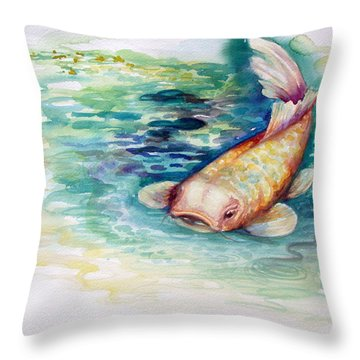 Koi I Throw Pillow