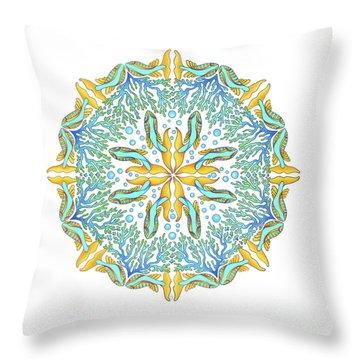 Koi Mandala Throw Pillow