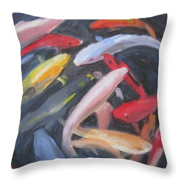 Koi #6 Throw Pillow