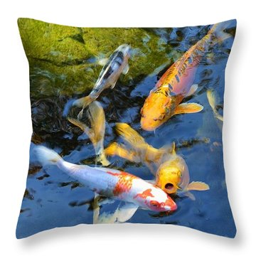 Koi Oh No  Throw Pillow