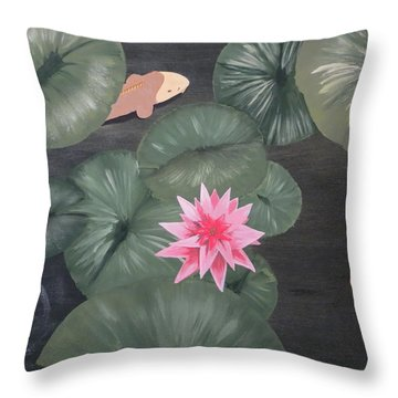 Koi Throw Pillow by Tim Townsend