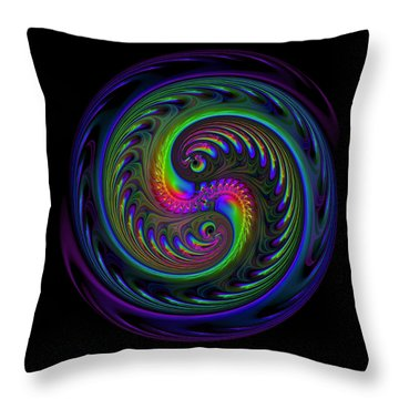 Koi Yin Yang Throw Pillow