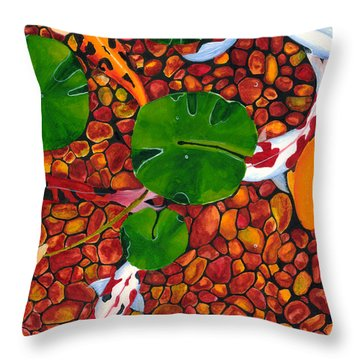 Koi_1 Throw Pillow