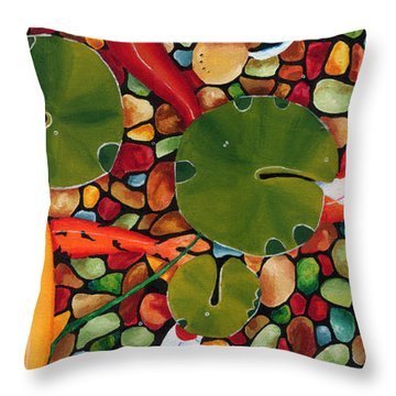 Koi2 Throw Pillow