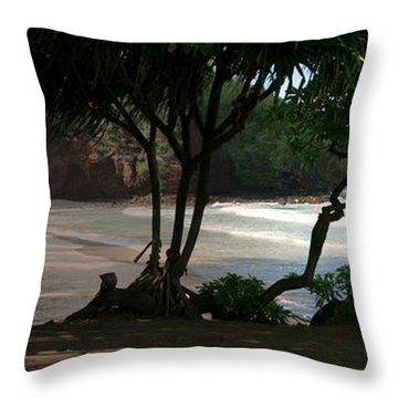Koki Beach Hana Maui Hawaii Throw Pillow by Sharon Mau