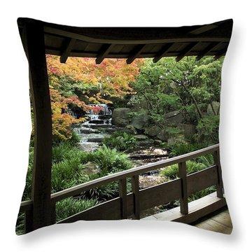 Kokoen Garden - Himeji City Japan Throw Pillow by Daniel Hagerman