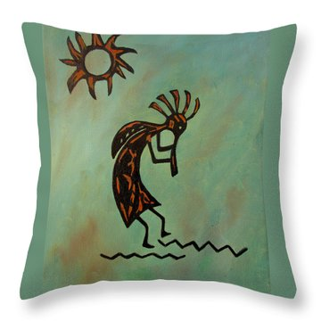 Kokopelli Flute Player Throw Pillow