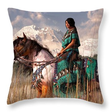 Kokopelmana Throw Pillow