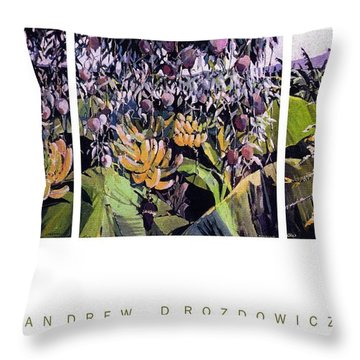 Kona Garden Throw Pillow