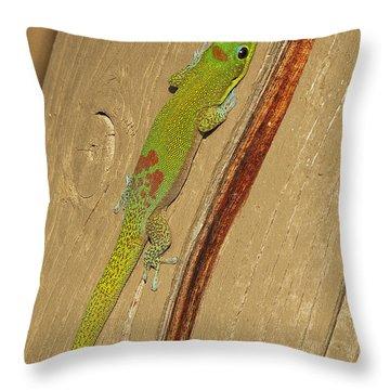 Kona Gecko Throw Pillow