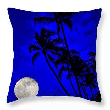 Kona Moon Rising Throw Pillow