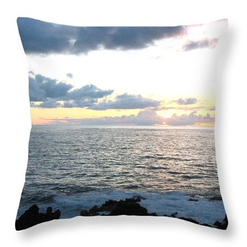 Kona  North Throw Pillow by Angela J Wright