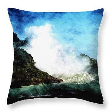 Kona Sea Throw Pillow