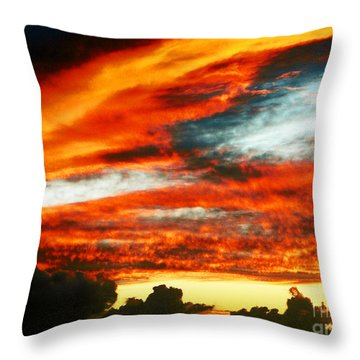 Throw Pillow featuring the photograph Kona Sunset 77 Lava In The Sky  by David Lawson