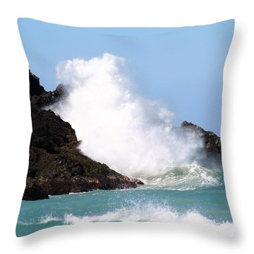 Kona Wave Throw Pillow by Athala Carole Bruckner