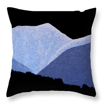 Throw Pillow featuring the painting Kootenay Mountains by Janice Dunbar
