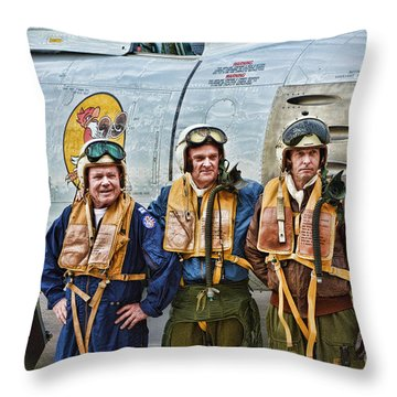 Korea 1951 Throw Pillow by Tommy Anderson