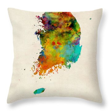 South Korea Throw Pillows