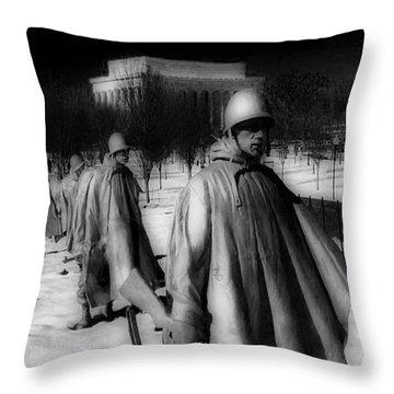 Korean Memorial Throw Pillow by Skip Willits