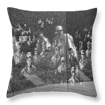 Korean War Veterans Memorial Throw Pillow