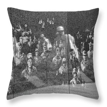 Korean War Veterans Memorial Throw Pillow